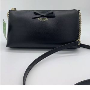 KATE SPADE Black Declan Bow Crossbody Purse NWT